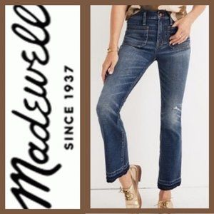 CALI DEMI-BOOT JEANS: PATCH POCKET EDITION - 28